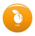 plum icon orange vector image