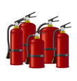 realistic detailed red extinguisher or quencher vector image vector image
