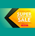 sale discount and offer marketing banner template vector image vector image