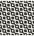 Seamless Black And White Diagonal Wavy vector image vector image
