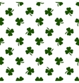Seamless clover leaves background St Patricks vector image vector image