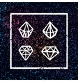 set of hand drawn diamonds in square frame vector image vector image
