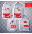 set of sale tags in grey color vector image