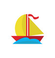 simple cute sea boat vector image vector image