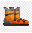 ski boots icon cartoon style vector image vector image