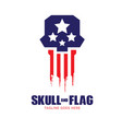 skull and flag logo vector image