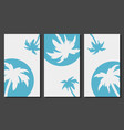 social media stories templates with palm trees vector image