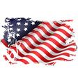 usa flag in eeuu maps vector image vector image