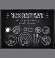 vintage poster breakfast roissant and coffee vector image vector image