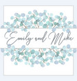 wedding invitation floral invite thank you green vector image