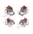 wheelchair isometric view medical special vector image vector image