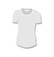 White women t-shirt vector image