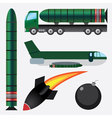 Bombs and missiles vector image