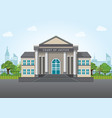 modern court building vector image