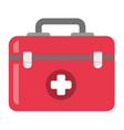 first aid kit cartoon vector image