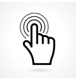 hand click or pointer icon vector image