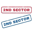 2nd Sector Rubber Stamps vector image vector image