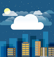 Abstract city buildings set vector image vector image