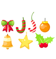 accessories christmas set vector image
