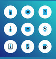 alcohol icons colored set with geolocation vector image vector image
