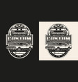 american custom car vintage label vector image