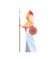 ancient greek goddess hera cartoon divine woman vector image vector image