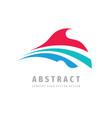 arrow logo template design abstract dynamic wing vector image vector image