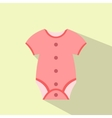 Baby clothing flat icon vector image vector image