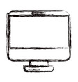 blurred thick contour modern flat computer screen vector image