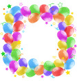 border design with colorful balloons