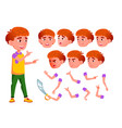 boy child kid teen smile cute vector image vector image