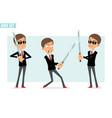 cartoon flat business kid boy character set vector image