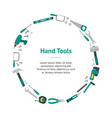 cartoon hand tools banner card circle vector image vector image