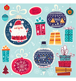 christmas with ball and gift boxes vector image vector image
