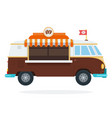coffee shop on wheels flat isolated vector image