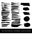 Collection of brush strokes and marker stains vector image