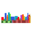colored cityscape of london vector image
