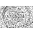 coloring book page with abstract art with spiral vector image vector image