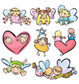 cute angels for your design vector image vector image
