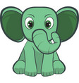 cute baelephant sitting cartoon vector image vector image
