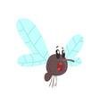 cute cartoon midge character vector image vector image