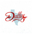dallas lettering vector image
