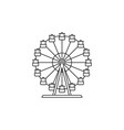 ferris wheel icon linear design isolated vector image