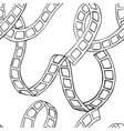 film tape doodle seamless vector image vector image