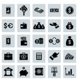 financial flat icons set vector image