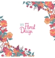 Floral corner with flowers berries and butterfly vector image vector image