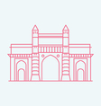 Gateway Of India vector image vector image