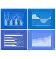 graphics and charts set poster vector image vector image