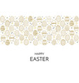 happy easter greeting card happy easter phrase vector image vector image