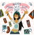 Happy Free wi-fi Free Day funny greeting card